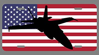 Jet Fighter Pilot Gifts UV American Flag Plate Birthday Aeronautical Aviator Decorations Private Airplane Decor Pilots Quo...