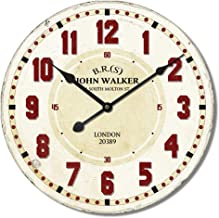 Generic Retro Ancient Style Digital Wall Clocks, White/Red, 60 cm, Hlz1F186