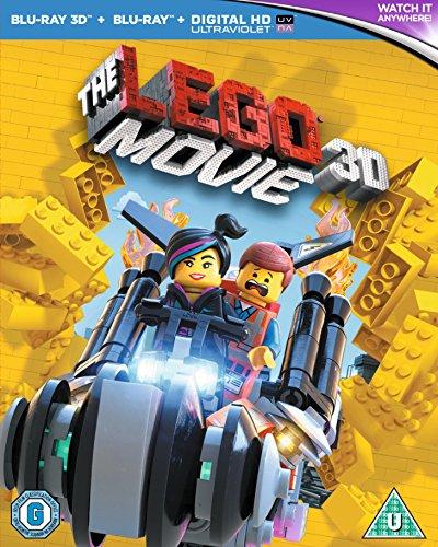 Das Lego Film Blu Ray 3D Blu Ray UV Kopie 2014 Region Free