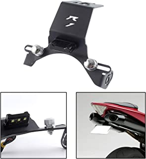 FATExpress Motorcycle CNC Aluminum License Plate Holder Bracket Fender Eliminator with LED Light for 2004-2014 Yamaha YZF-R1 YZF R1 2005 2006 2007 2008 2009 2010 2011 2012 2013 04-14