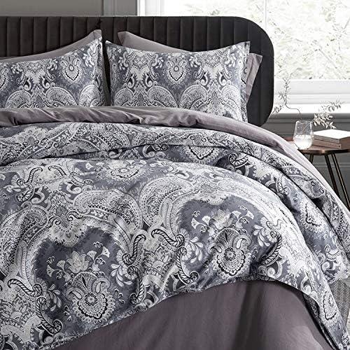 Moroccan Paisley Duvet Cover 3pc Set Dama Recommendation Fresno Mall Boteh Bohemian Bedding