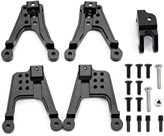 4PCS Front & Rear Aluminum Shock Hoops Parts Tower for Axial SCX10 II 90046 90047 1/10 RC Crawler