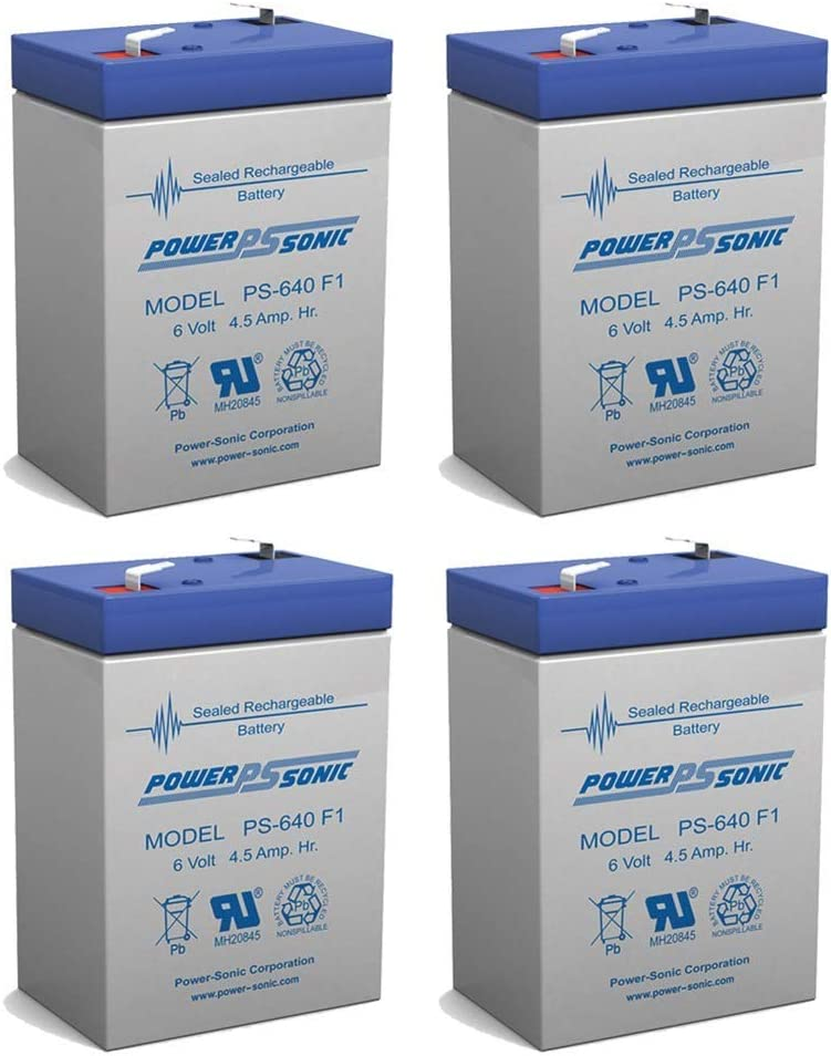 Power Sonic 6V In a popularity 4.5AH SLA Battery NT for Max 56% OFF 1860 Emerson Replacement