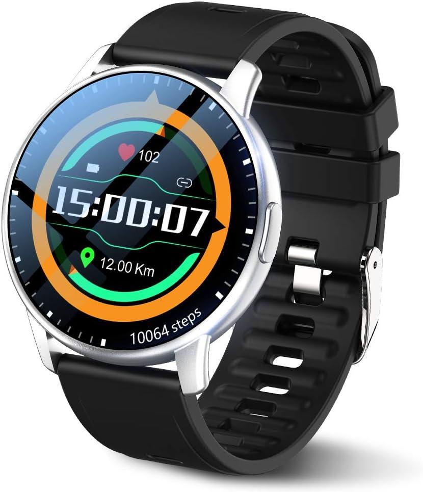 LEMFO Smartwatch Herren 1,3-Zoll-Touchscreen Armbanduhr IP68 wasserdichte Fitnessuhr Sportuhr mit 24 Sportmodi, 54 Zifferblättern, Fitness Uhr mit…