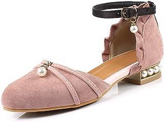 BalaMasa Womens ASL06575 Pu Block Heels