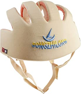 Prettyia Toddler Adjustable Safety Helmet Headguard Protective Harnesses Hat Safety Caps for Walking & Crawling - Beige Type B