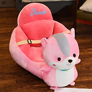 sofa Baby Learning Seat Cartoon Children s Baby Safety Dining Chair Animal Sweet Seats Infant Seat Plush Chair for Children Room pinksquirrel