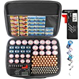 Large Battery Organizer Storage Case with Digital Battery Tester Checker, 200+ C D 9V AA AAA AAAA Batteries Organization Box Container(No Battery)