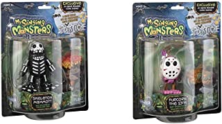 My Singing Monsters Musical Collectible Figure- Skeleton Mammott Bundle Musical Collectible Figure- Furcorn The 13th