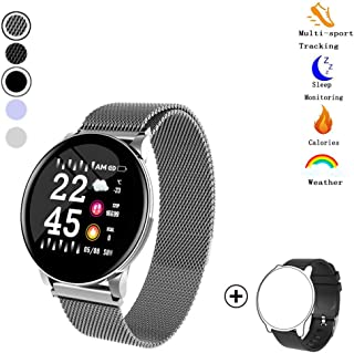 Fitness Tracker,Activity Tracker Watch with Heart Rate Blood Pressure Monitor 1.3 Color Screen Waterproof Smart Pedometer Sleep Monitor Step Calorie Counter for Men Women