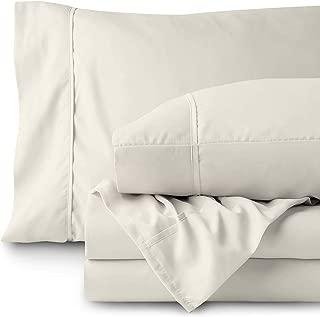 RRlinen 4PC Bed Sheet Set 100% Cotton 800 Thread Count Long Staple Fits Mattress 15
