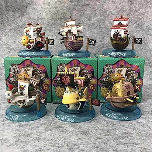 ioth 6 unids Pirata Barco Figuras de acción una Pieza Modelado Anime heroe carácter Modelo Juguete muñeca colección decoración Regalo de cumpleaños 8 cm