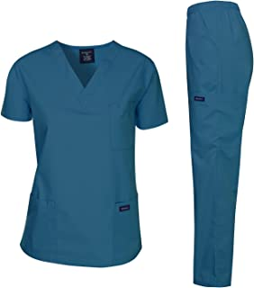 Dagacci Scrubs Medical Uniform Women and Man Scrubs Set Medical Scrubs Top and Pants