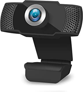 1080P USB HD Webcam, PC Cam 90 Degree Computer Web Camera with Auto Light Correction for Laptop/Desktop/TV with Mic for Vi...