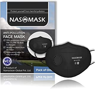 Nasomask FFP2 Grade N95 Mask Anti Pollution Face Mask - Pack of 1