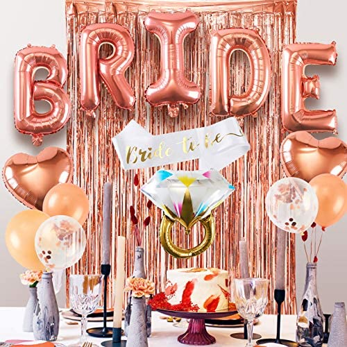 Nuolich Bachelorette Party Decorations Bridal Shower Decorations Bride to Be Sash Diamond Ring product image