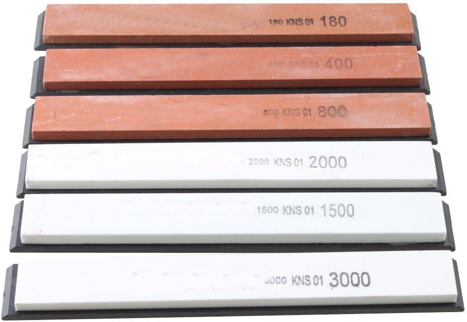 Preamer Kit de piedra de afilar 180 # a 3000 # para afilar cuchillos, paquete de 6