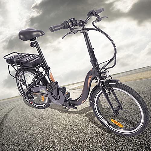 Bici electrica 250W Motor Sin Escobillas E-Bike Cuadro Plegable de aleación de Aluminio Crucero Inteligente Compañero Fiable para el día a día