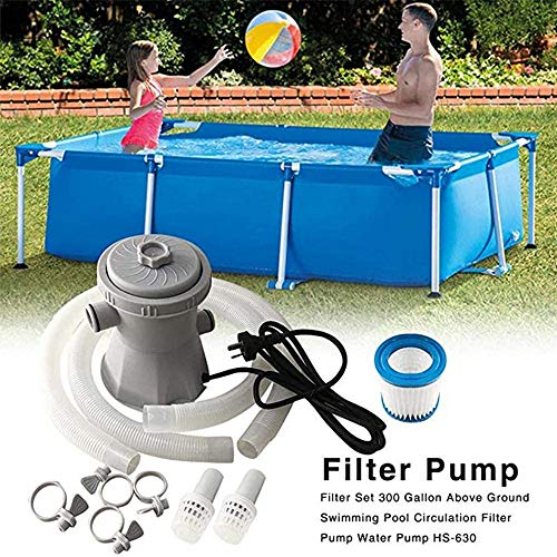 ZHAOW Elektrisch Pool Filterpumpe, 220-240V Sommerwellen Filter Wasserumwälzpumpen Für Oberirdische Pools Clean Tool Wasserreiniger Cartridge Filter Pump Pool Filter Pump