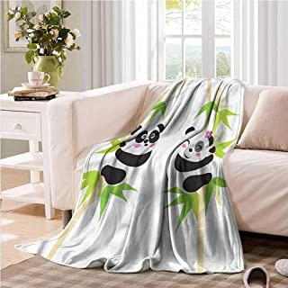 Oncegod Family Blanket Panda Couple of Bears in Love car/Airplane Travel Throw 93