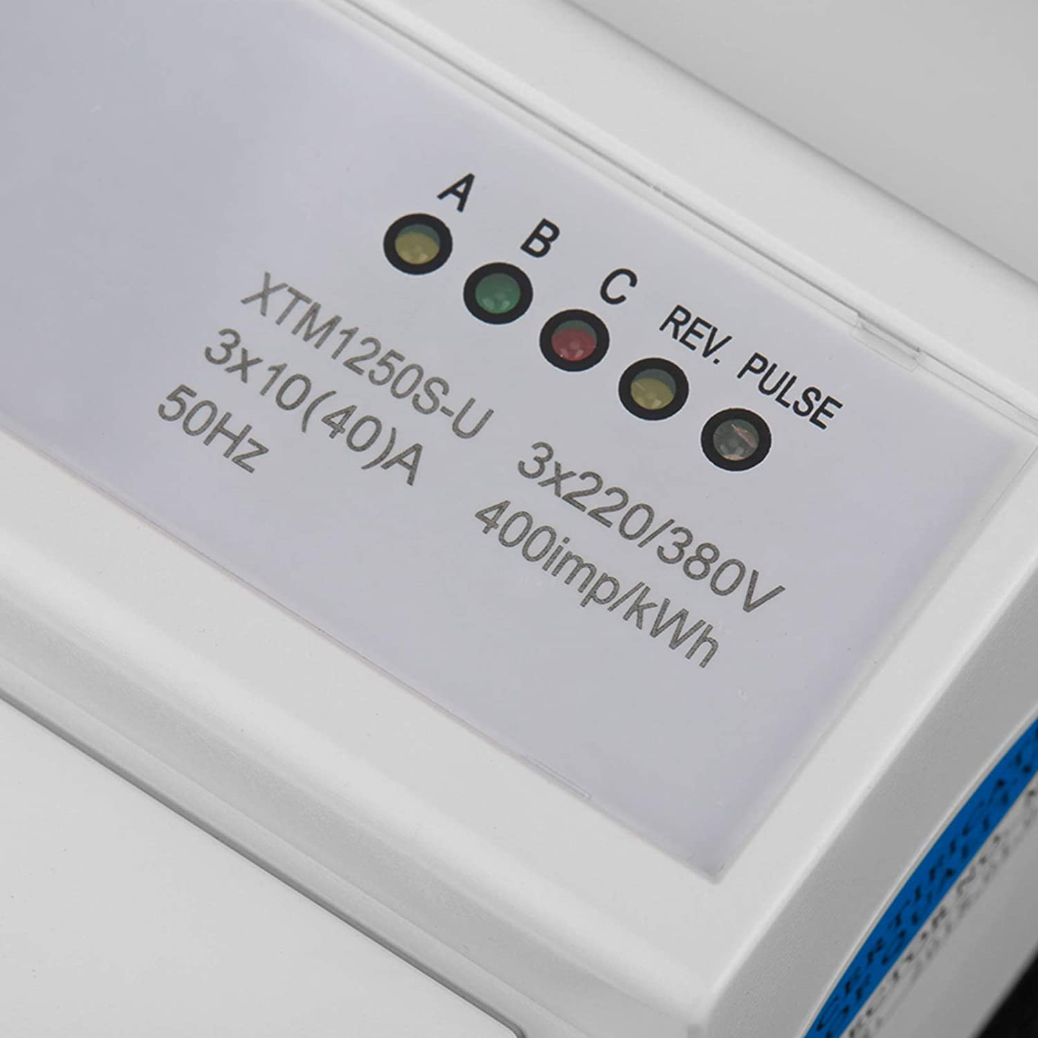 Short Terminals Cover KWh Meter DIN-Rail 5 Manufacturer direct Super beauty product restock quality top! delivery Instructions Elec LED