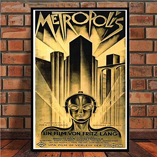 yaoxingfu Kein Rahmen Retro Metropole Deutsch Vintage Filmkunst Poster Leinwand Malerei Wandhauptdekor 30x45 cm