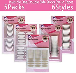 Eyelid tapes, 5Packs/1360Pcs Instant Eyelid Lift Strips for Hooded Droopy Eyes, Self-Adhesive Eye Tape Stickers for Long-lasting, Breathable