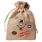 Lustiger Jute Beutel mit Spruch 'Alles Gute alter Sack' Geschenk Beutel Tasche