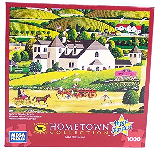 Hometown Collection Winery 1000 Piece Jigsaw Puzzle By Heronim by Mega Puzzles by Mega Puzzles