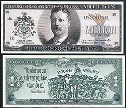 Theodore / Teddy Roosevelt Million Dollar Note w Rough Riders - Lot of 2 BILLS