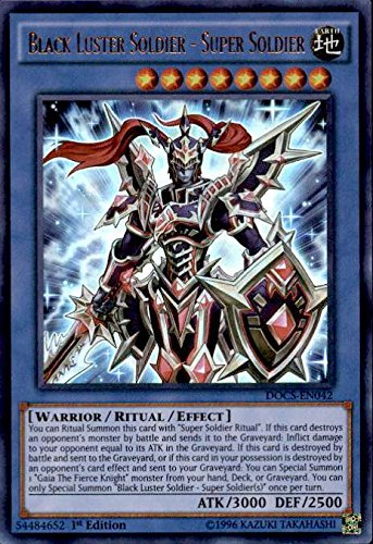 YU-GI-OH! - Black Luster Soldier - Super Soldier (DOCS-EN042) - Dimension of Chaos - 1st Edition - Ultra Rare