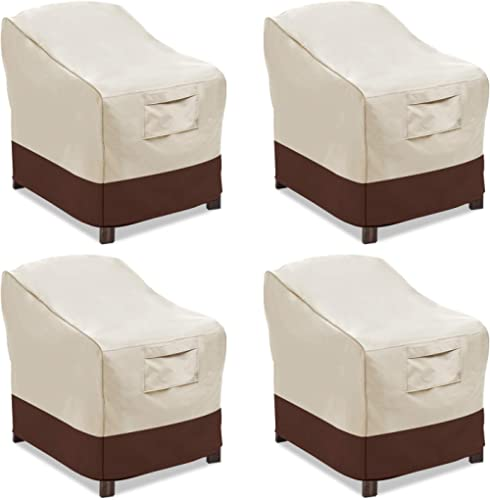 Vailge Patio Chair Covers, Lounge Deep Seat Cover, Heavy Duty and Waterproof Outdoor Lawn Patio Furniture Covers (4 P...