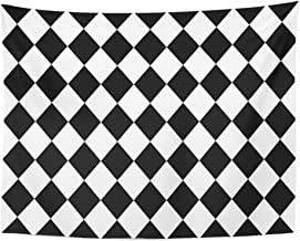 harlequin pattern on wall