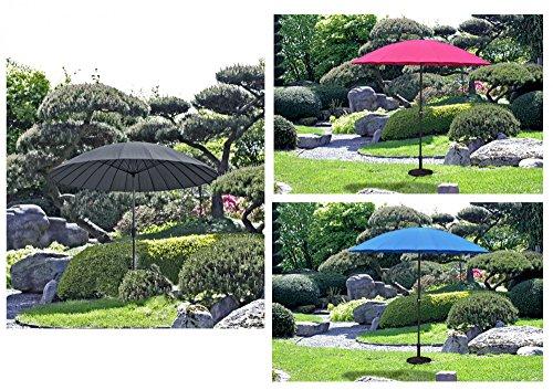 Markenlos Benelando Runder Sonnenschirm mit 24 Streben in DREI Farbvarianten (Pink)