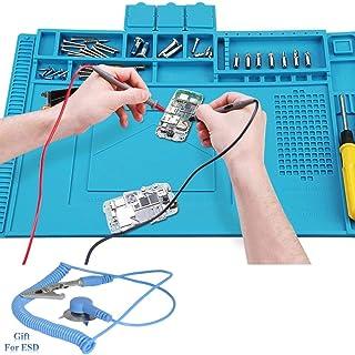 Voniry Soldering Mat 500℃ Heat Resistant Non-Slip and Non-toxic Odorless silicone repair mat for soldering electronics assembly or electronics and circuit board repair