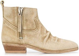 Luxury Fashion   Golden Goose Women G34WS279C9 Beige Suede Ankle Boots   Autumn-winter 19