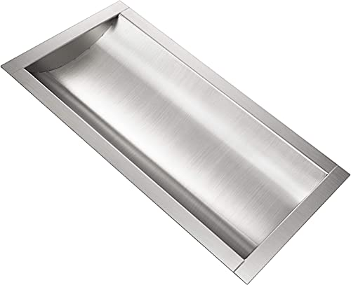 """lowest Mophorn 304 Stainless Steel Drop-in Deal wholesale Tray Brushed Finish for Cash Register outlet online sale Window (18""""x 10"""" x2"""") outlet sale"""