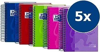 Oxford Touch - Pack de 5 cuadernos espiral de tapa extradura