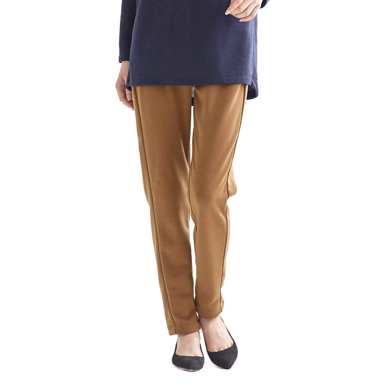 [ベルメゾン] 毛布のように ふわふわな 裏シャギー レギパン ブラウン