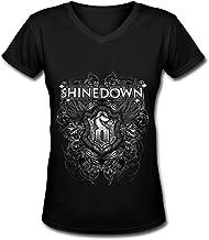 Taseisd Shinedown Tour 2015 Logo Prety Tee Women's Fashion V Neck T-Shirt Black