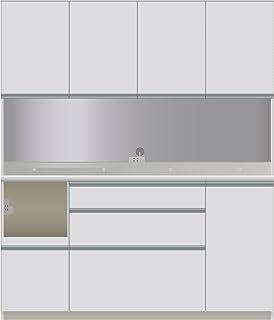 パモウナ 食器棚DI パールホワイト 幅160×高さ187×奥行50 日本製 DIL-1600R
