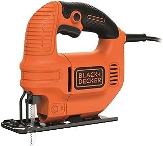 BLACK+DECKER KS501-QS Scie Sauteuse filaire - Bois : 65 mm - Acier : 5 mm - Coupe biaises : 45° - 1 lame bois 400W, 18V, O...