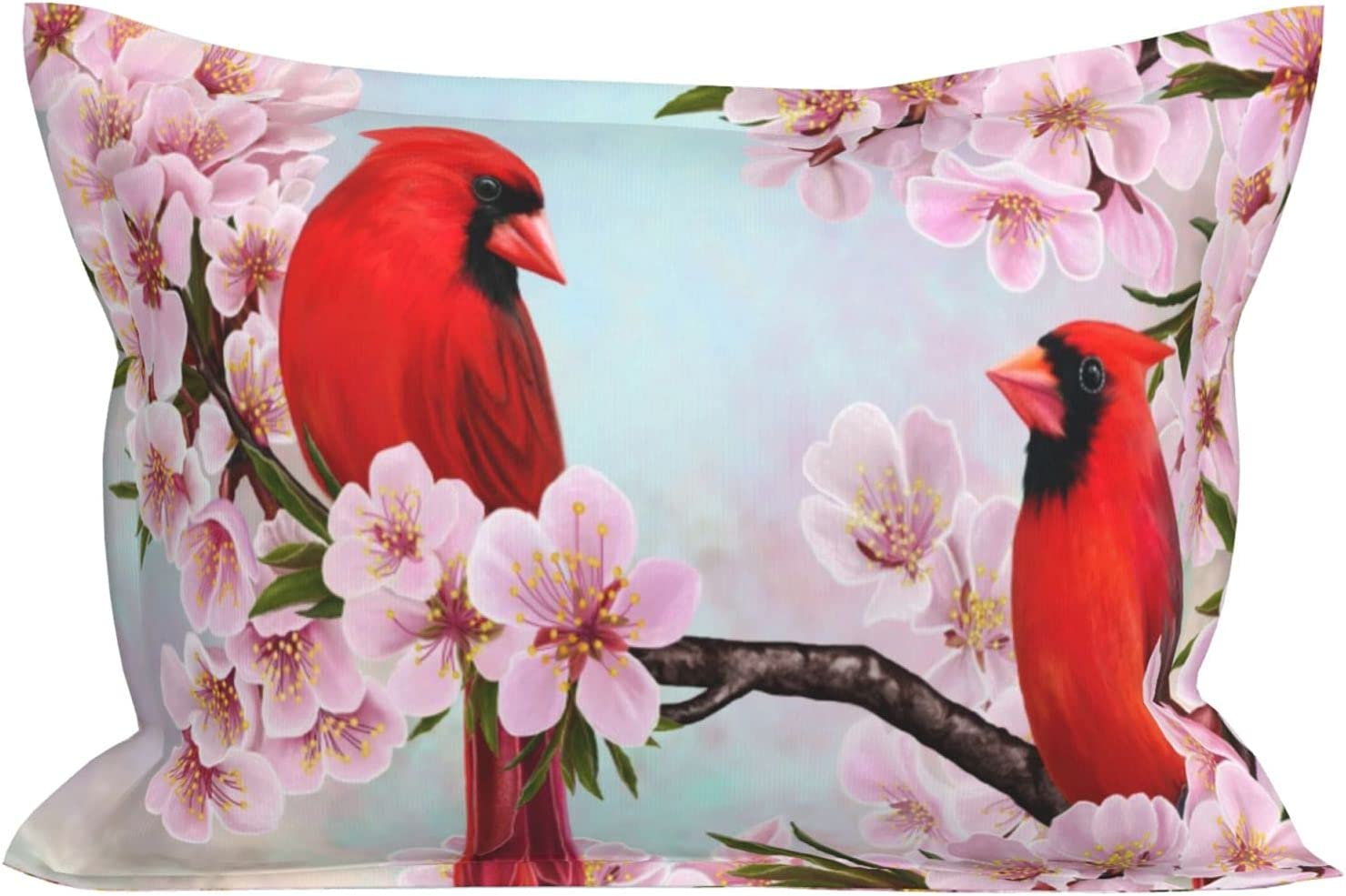 Rectangle Pillow Cases Red Almonds Blossom Branch Animer and price revision Flowers Award