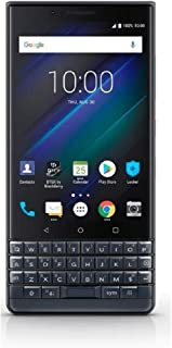 BlackBerry KEY2 LE (Lite) Dual-SIM (64GB, BBE100-4, QWERTY Keypad) Factory Unlocked 4G Smartphone (Slate/Space Blue) - Int...