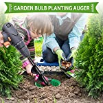 """SETROVIC Garden Spiral Hole Drill Planter 1.6""""x18"""" & 4""""x12"""" Garden Auger Bulb Planter Tool Rapid Planter Garden Drill Planter Hole Digger for 3/8"""" Hex Driver Drill 2-in-1 Set 14 【2-in-1 Set】1.6""""x18"""" & 4""""x12"""" bulb planter suitable for various planting requirements. Thickened and elongated drill enables easier drilling and thickened link rod is more durable and resistant, quickly digs holes up using the power of your hand held drill. 【High Quality Products】 Made of heavy duty steel, with premium glossy painted finish. The auger drill bit point on it hits the ground first and keeps it steady when you are digging hard grounds. The rod is connected with the shaft, it's difficult to break.This auger drill bit is suitable for most 3/8"""" hex drive drill. 【Efficient Planting】Our bedding plants drill bit will make hundreds of holes in few minutes, makes hole digging easier, it will save your time & save your back. The long size drill bit allows you to stand and dig. It can save much effort for you in massive digging."""