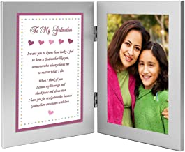 Godmother Gift from Goddaughter Frame - Add 4x6 Inch Photo