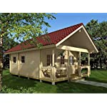 """Allwood timberline   483 sqf cabin kit 11 inside floor area: 354 sqf + loft 129 sqf wall thickness: 2-3/4"""" (70 mm) - dual t&g pattern   ridge height: 14'9"""" snow load capacity 46 lbs/sqf - for 70 lbs/sqf and 96 lbs/sqf values see asin:b07ty5msy8"""