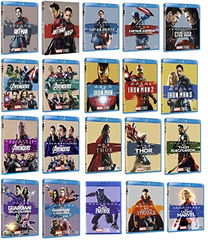 MARVEL Studios Collection (20 BLU-RAY) Cofanetti Singoli, Edizione Italiana - Comprende Captain Marvel e Avengers Endgame