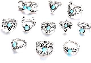 Meerjungfrau Mond Entfärbung Ring emotionale Farbe verstellbarer Ring QY BNV