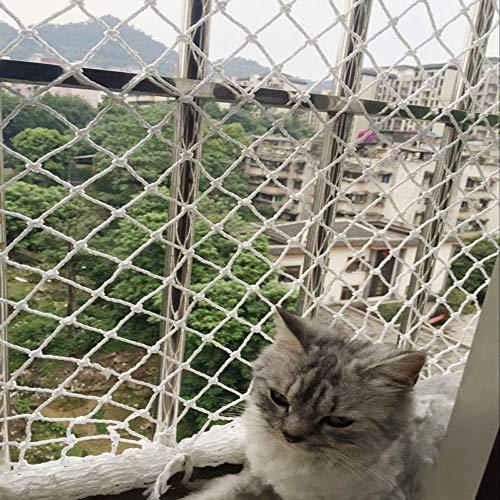 AQWFH Protective net Cat Protection Net, Voor Balkon En Raam Nylon Touw Lekvrij Net Trapleuning Valbeveiliging Veiligheid Netto Kinderbeveiliging Netto 3 cm Mesh, 4 * 5m